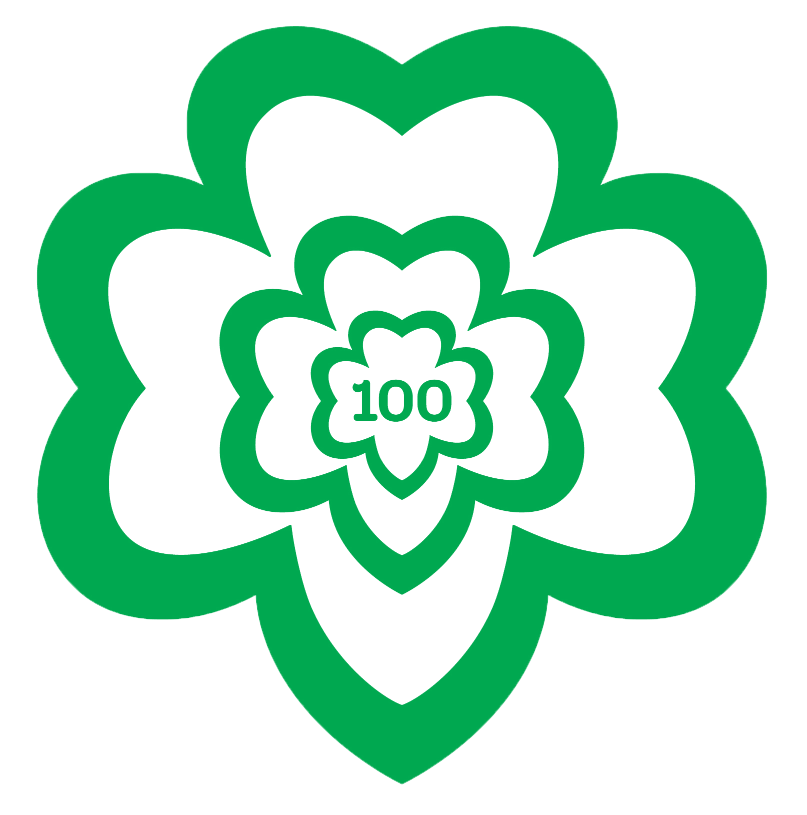 Girl Scout 100th Anniversary Logo