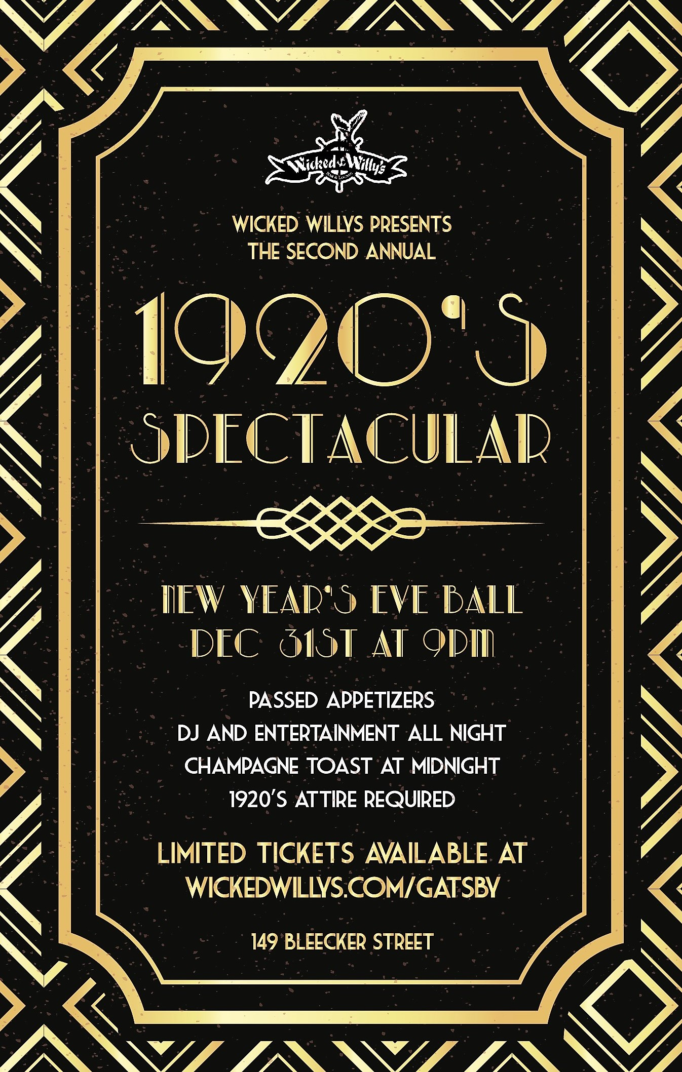 1920's Spectacular New Year's Eve Ball