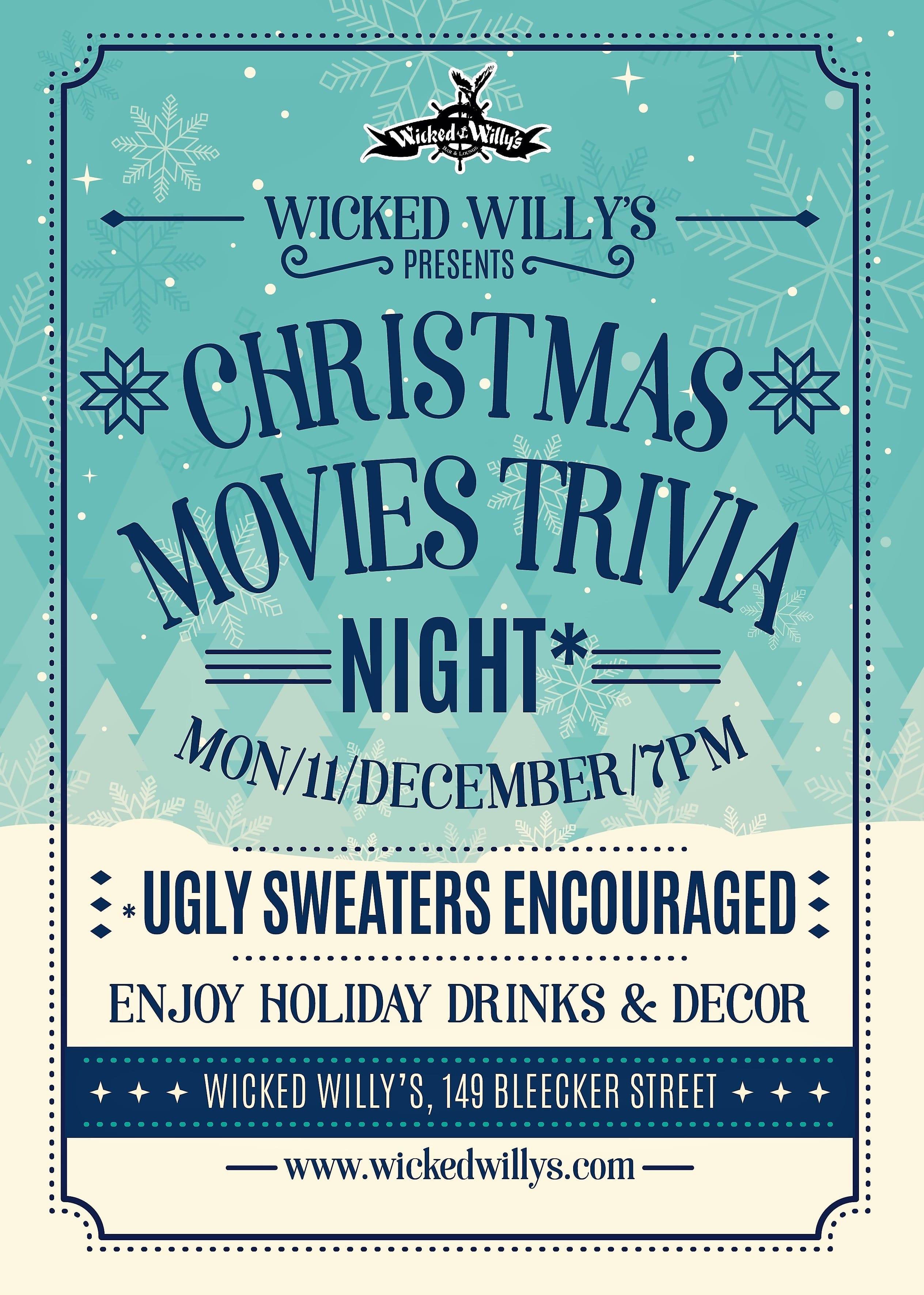 Christmas Movies Trivia Night Poster