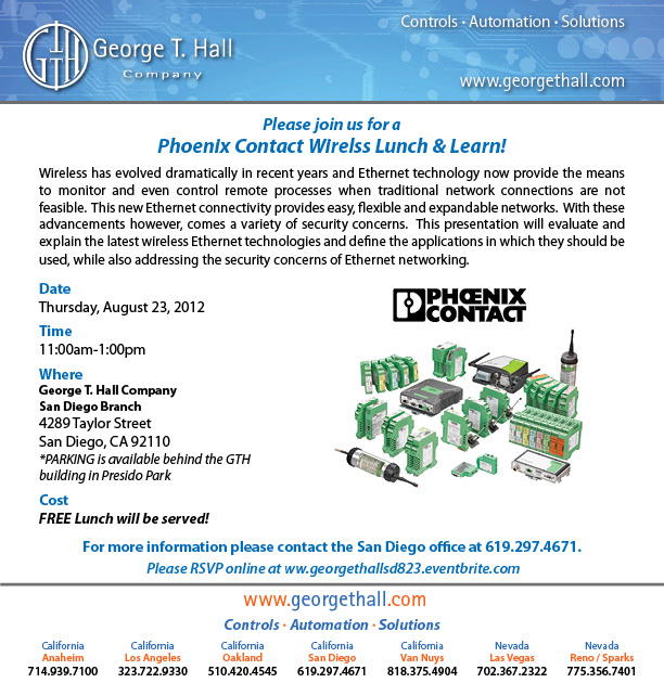 Phoenic Contact Wireless Lunch & Learn