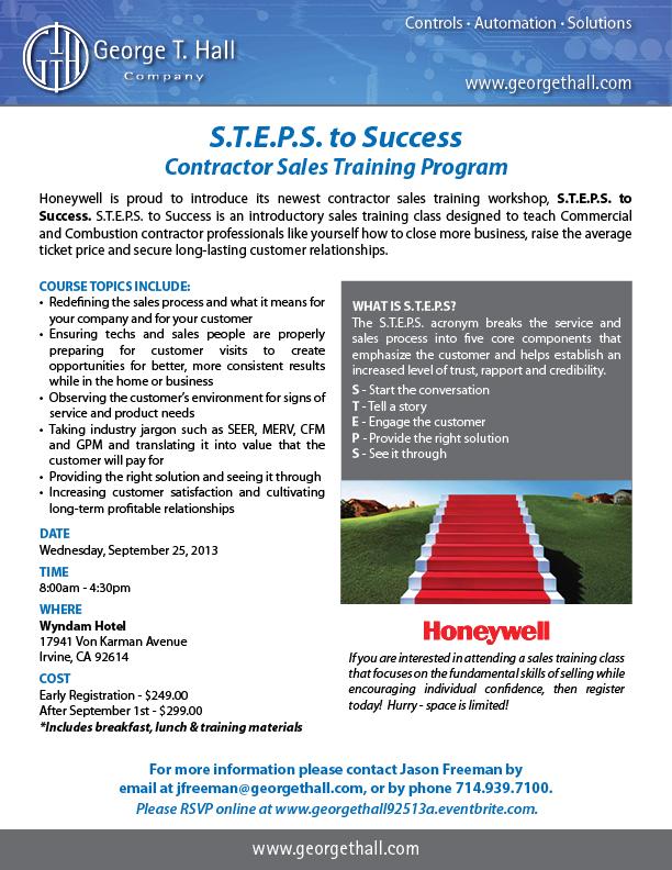 S.T.E.P.S. to Success Contractor Sales Training Program