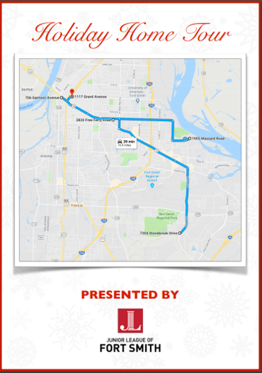 Holiday Home Tour 2018 Map