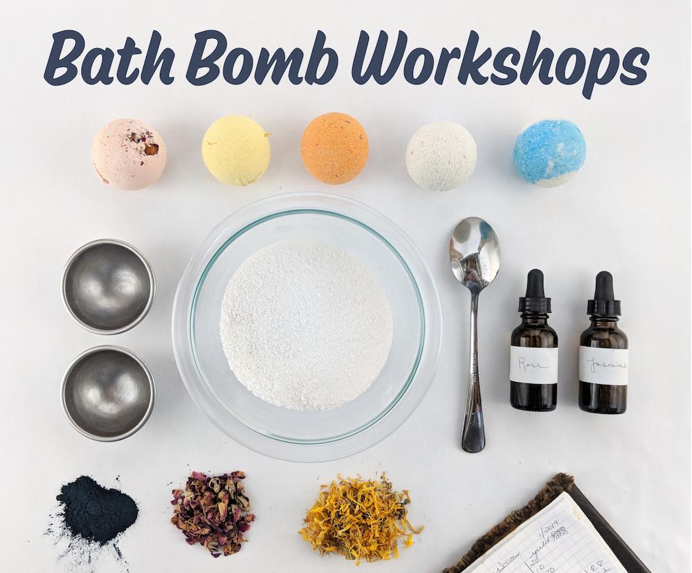 Bath bomb workshop, ingredients and tools