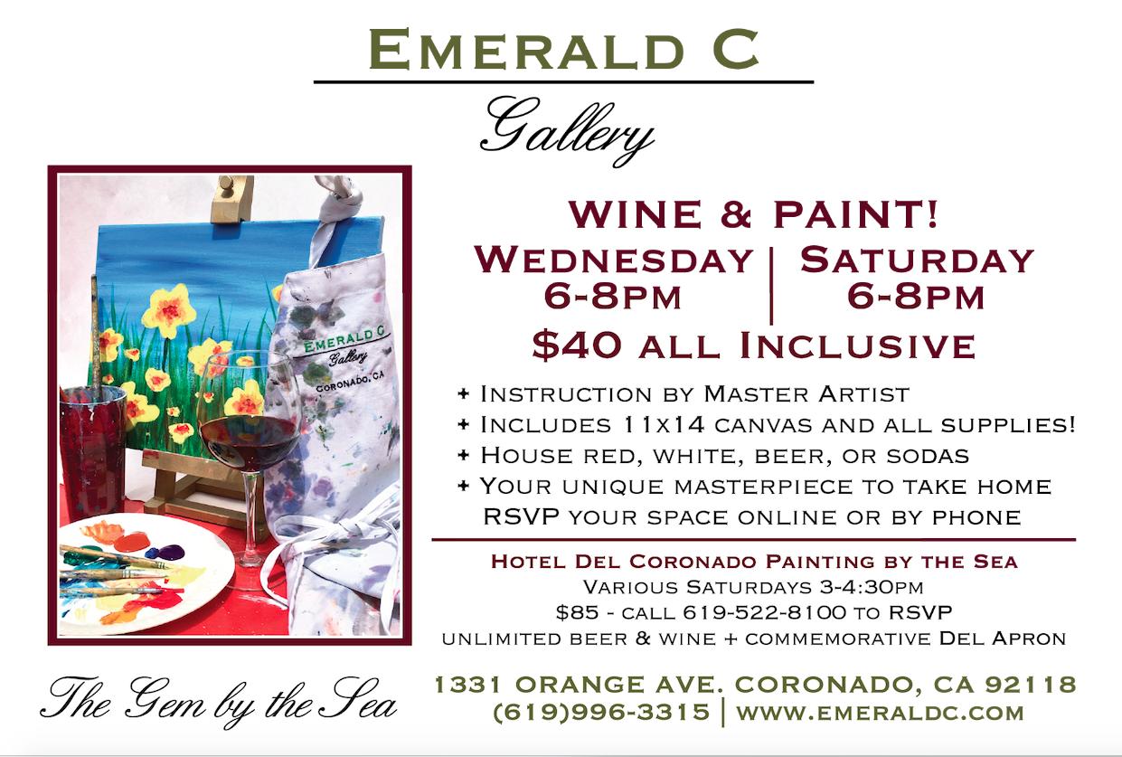 Wine & Paint Event Flyer