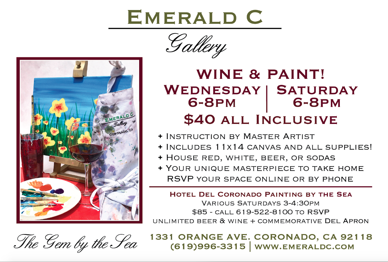 Wine and Paint at Emerald C Gallery Info Card