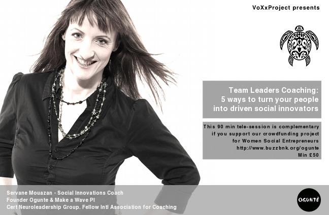 Logo Voxx Servane - Turning team into driven Social Innovators