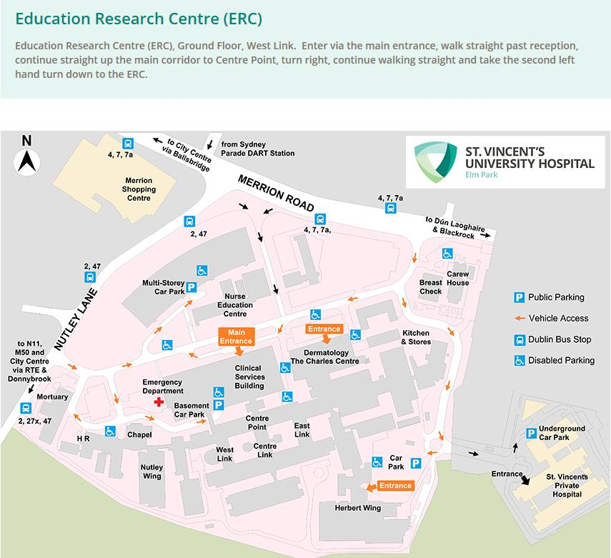 Map to Education and Research Centre