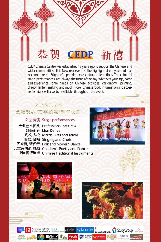 back page of 2019 CEDP New Year Event