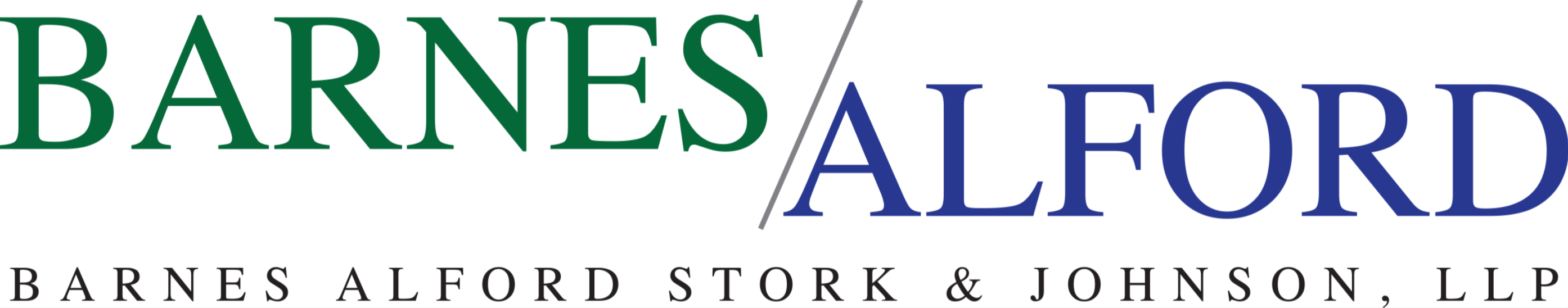 Thank you to our Gold Sponsor Barnes Alford Stork & Johnson, LLP