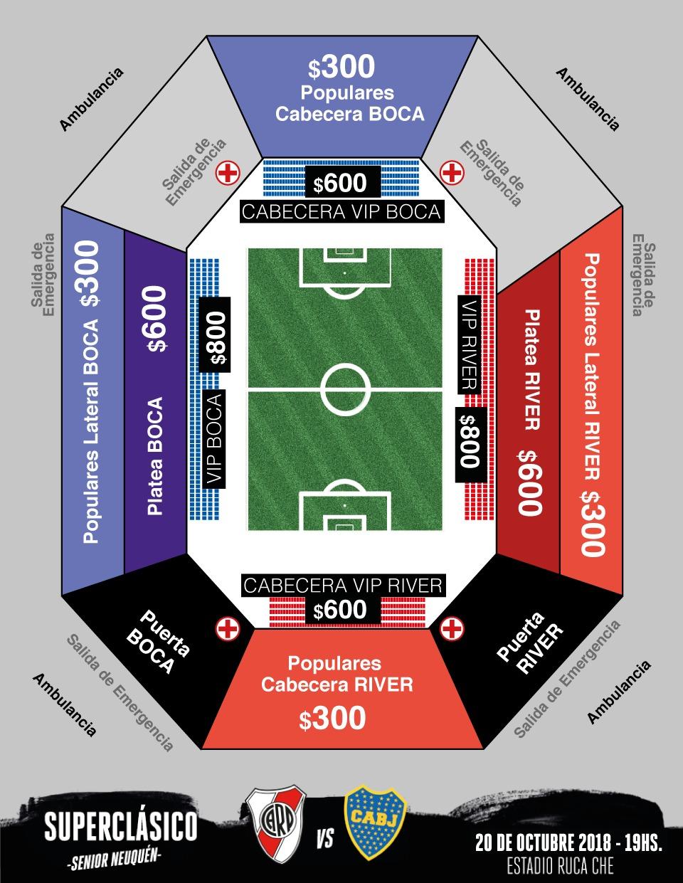 Estadio Ruca Che - entradas