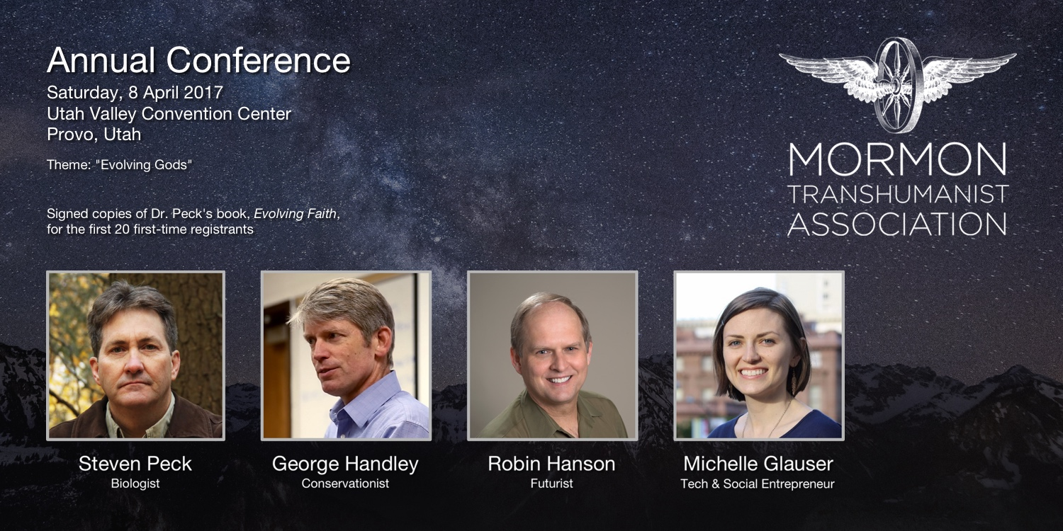 Conference poster with portraits of special guest speakers