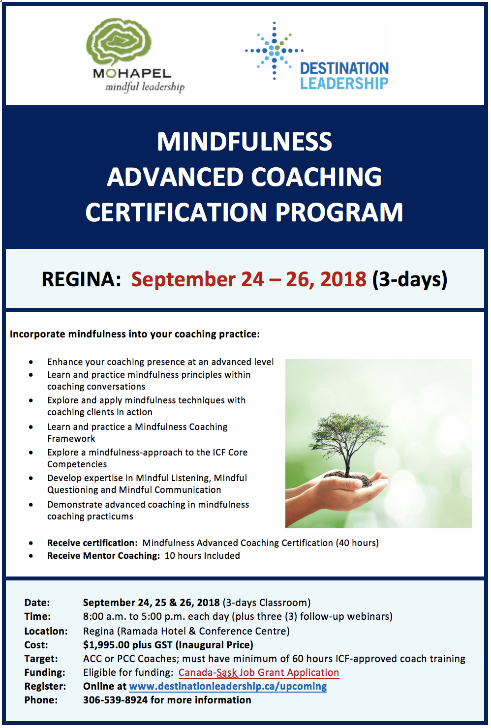 Register for Mindfulness Advanced Coaching Certification Training