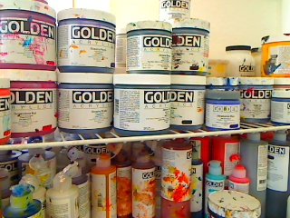 Golden Acrylic Paint Jars