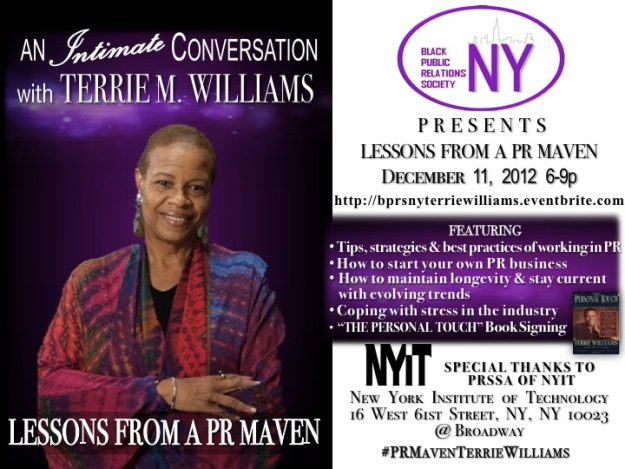 BPRS-NY Presents An Intimate Conversation w/Terrie M. Williams