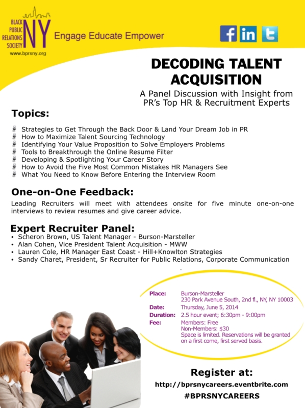 PR HR & Recruitment Expert Panel Discussion