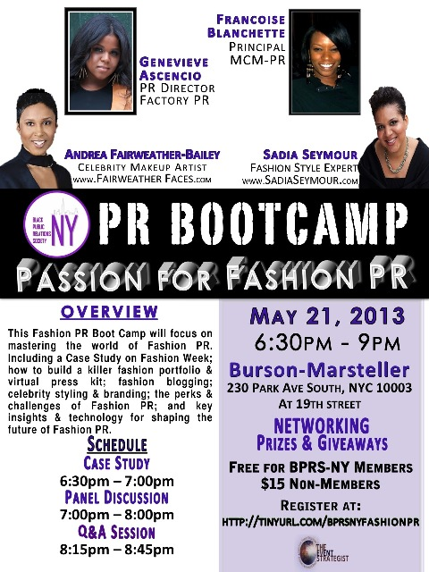 BPRS-NY Passion for Fashion PR Boot Camp