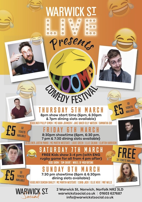Comedy Club Line Up at Warwick St Social
