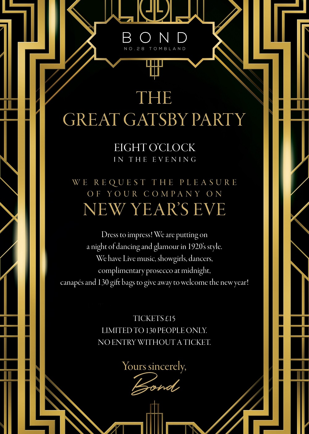 This is a photo of Current Gatsby Party Invitations