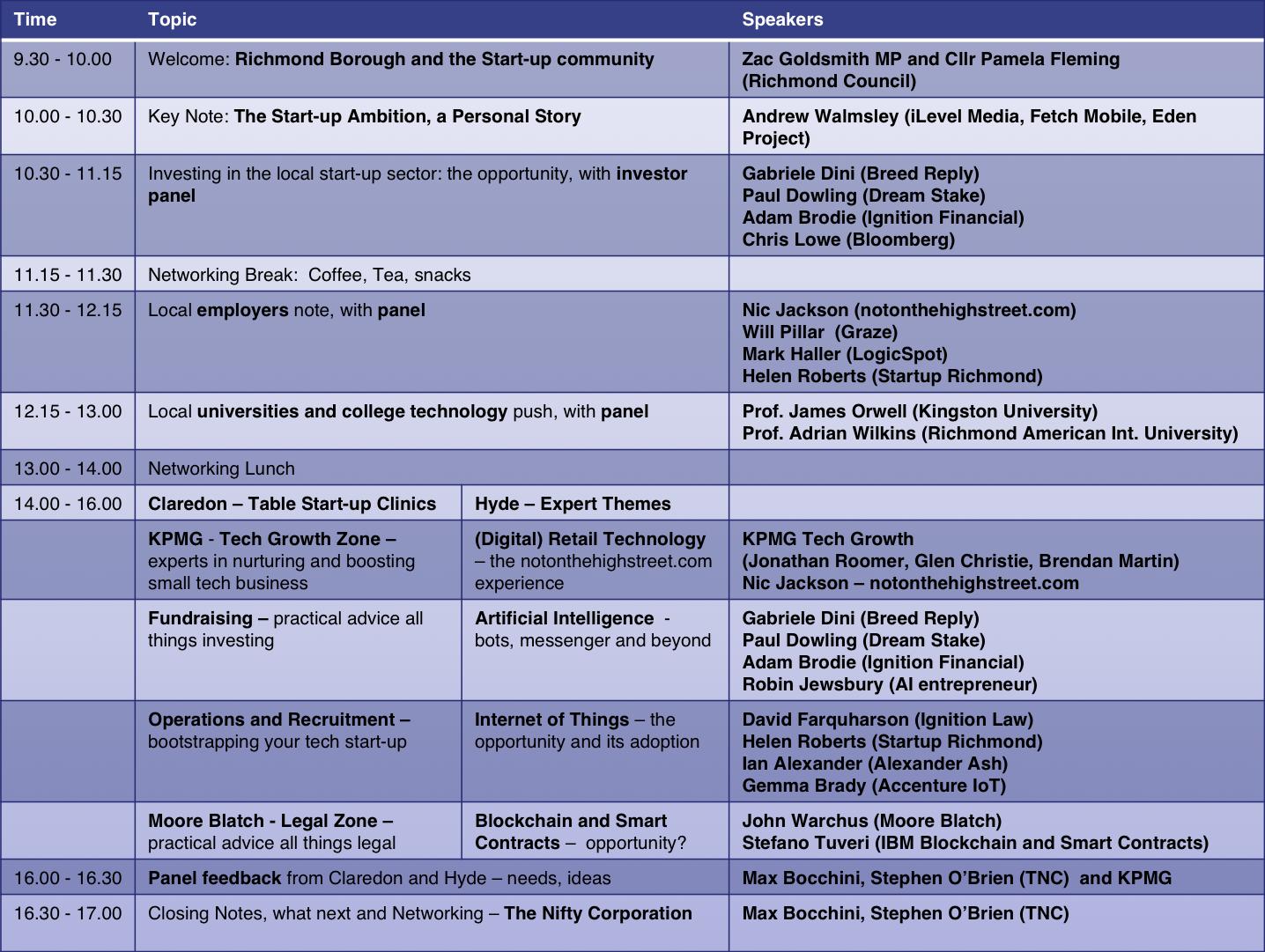 October 6th detailed agenda