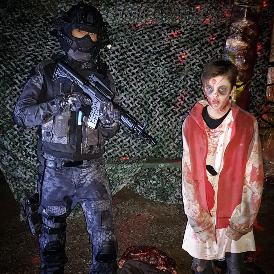 Soldier and zombie