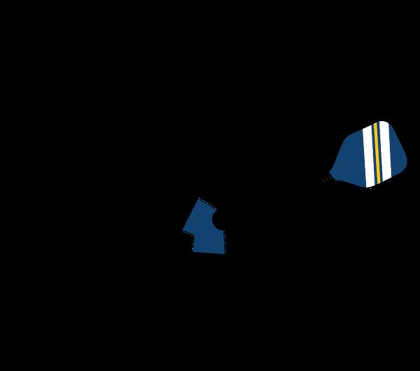 Pickleball player silouette
