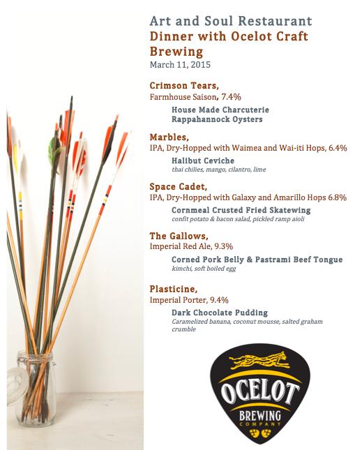 Ocelot Beer Dinner