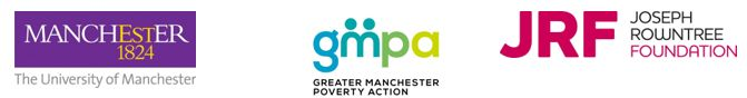 University of Manchester, GMPA  and JRF logos
