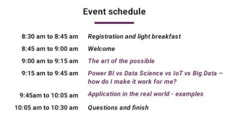 V:Inspire, Leveraging Big Data, IoT & Data Science [Perth