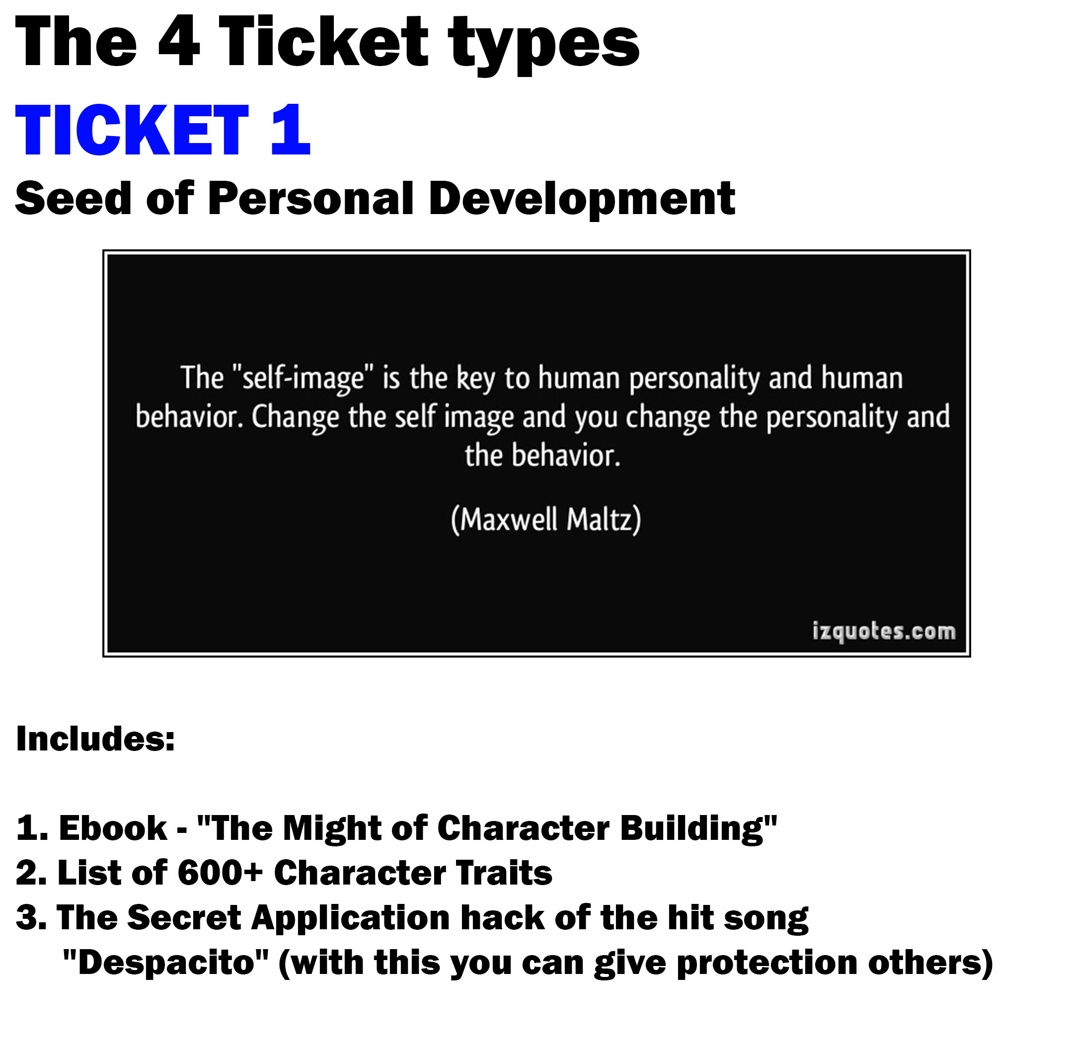 SEED1 Ticket 1 Seed of personal development