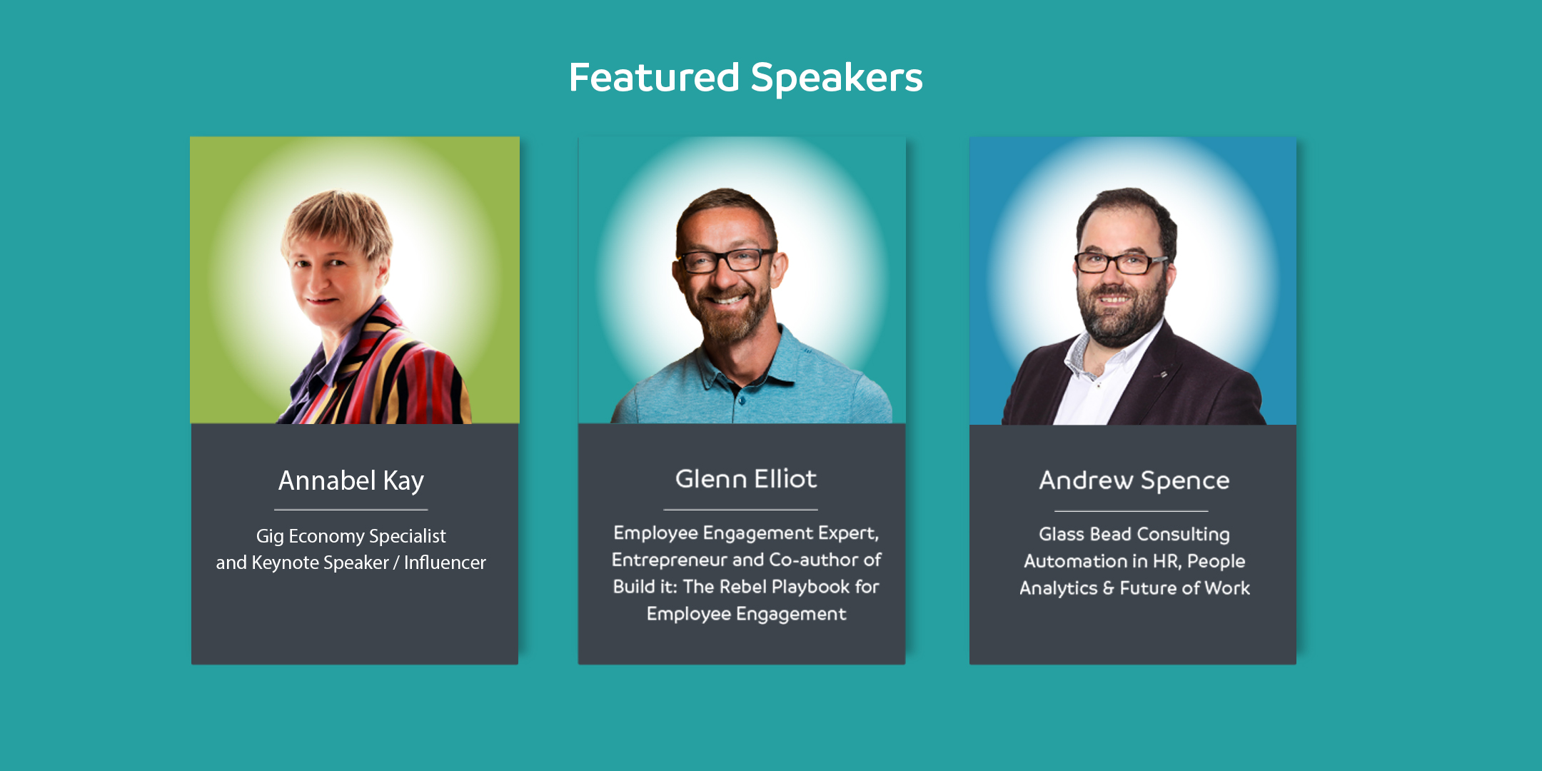 Speakers: Annabel Kay Glenn Elliot and Andrew Spence