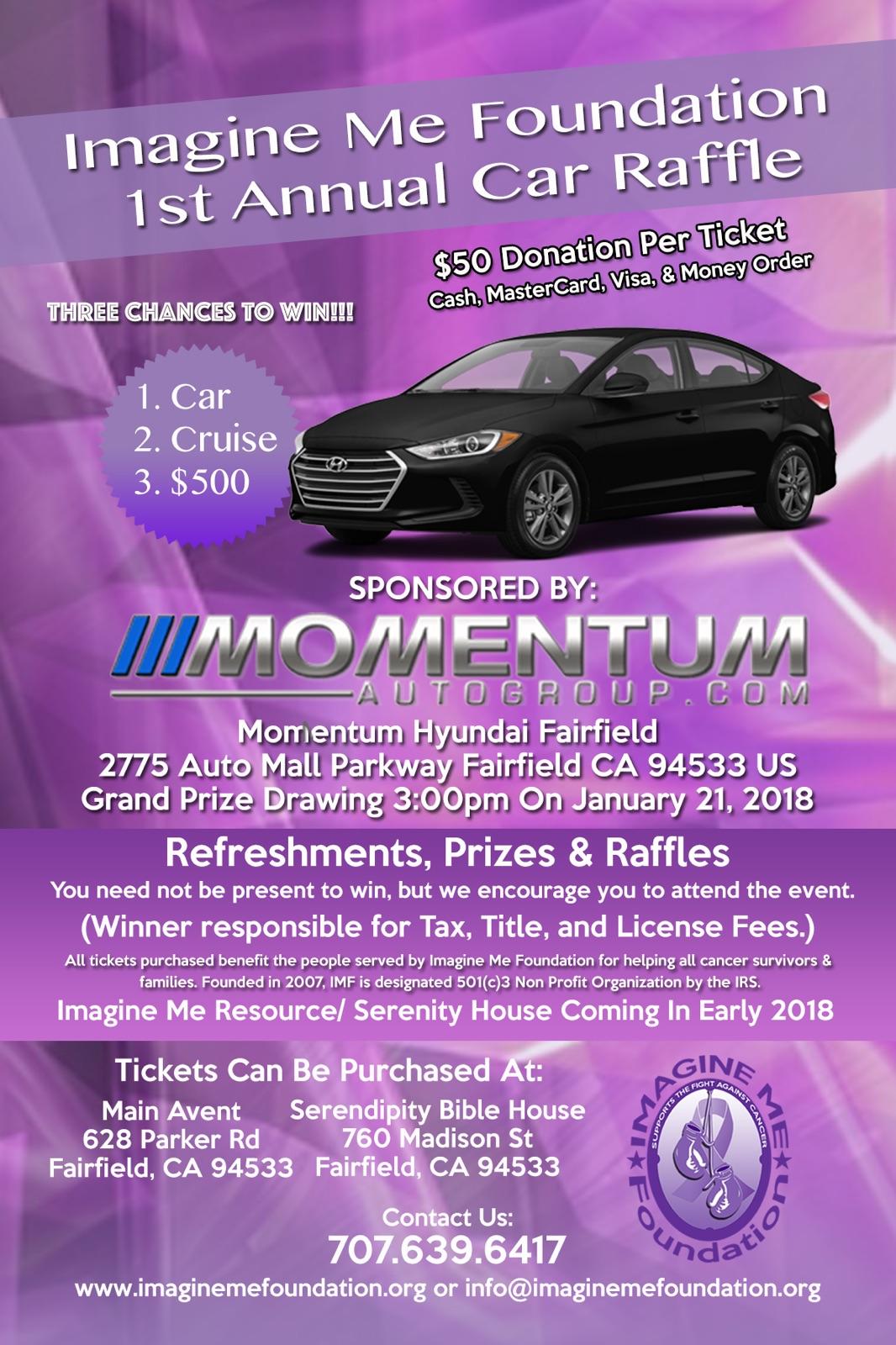 Imagine Me Foundation 1st Annual Car Raffle