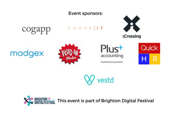 Event Sponsors: Cogapp, iCrossing, Madgex, Plug-in Media, Plus Accounting, Quick HR, Vestd