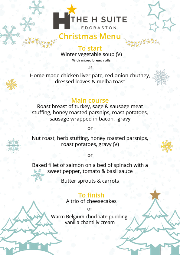 Magic of Christmas Party Food Menu 2019