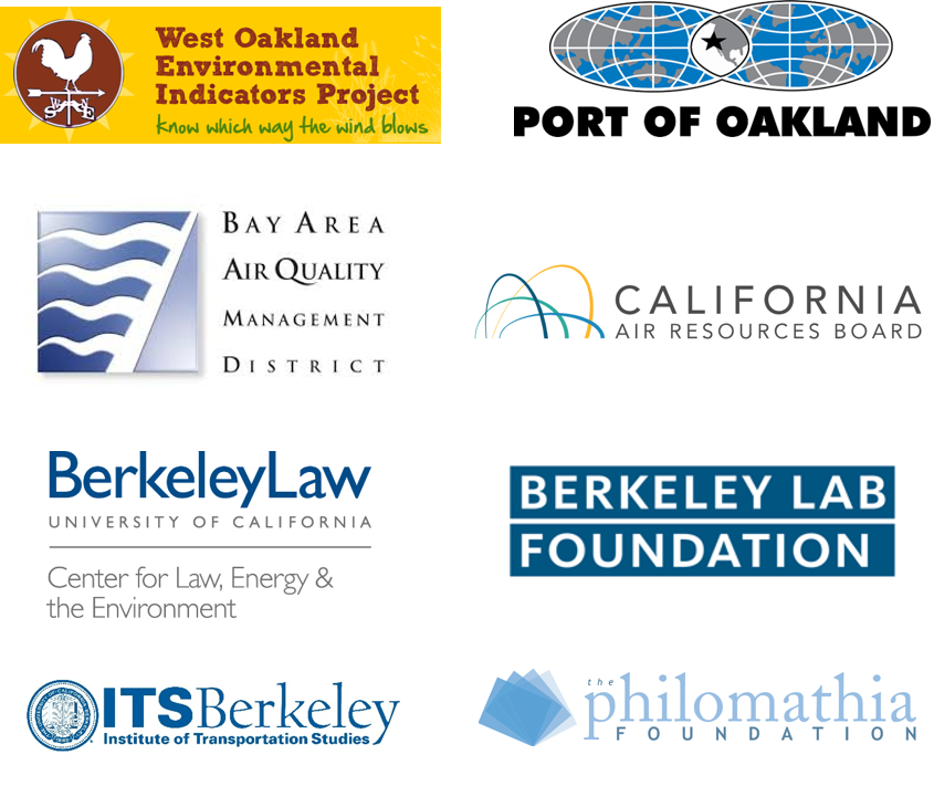 partners west oakland environmental indicators project, port of oakland, air resources board, bay area air quality management district, center for law, energy and the environment, lawrence berkeley national lab, institute of transportation studies