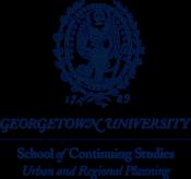 Georgetown University, Urban & Regional Planning Logo