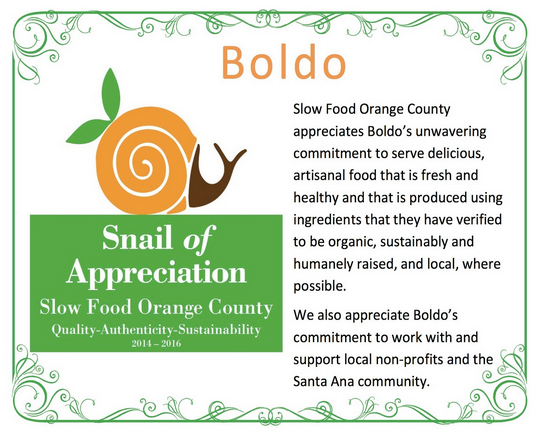 SFOC Snail of Appreciation - Boldo
