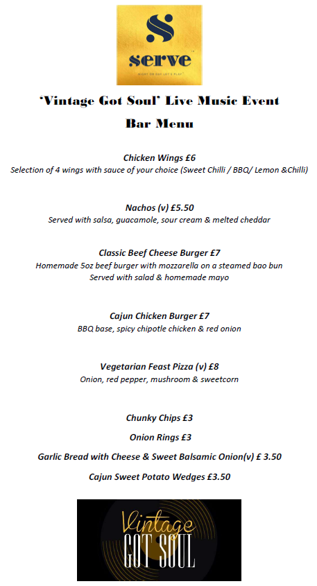 VGS Bar menu