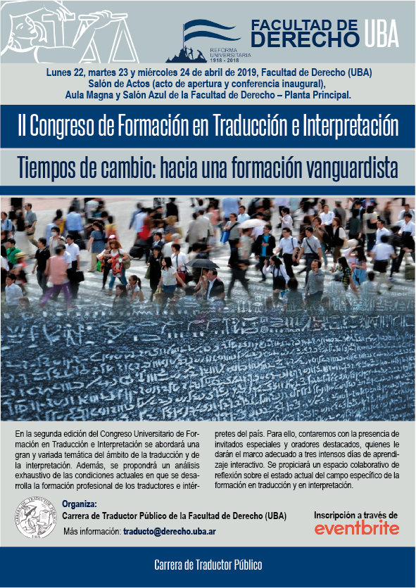 Afiche del II Congreso Universitario de Formación en Traducción e Interpretación