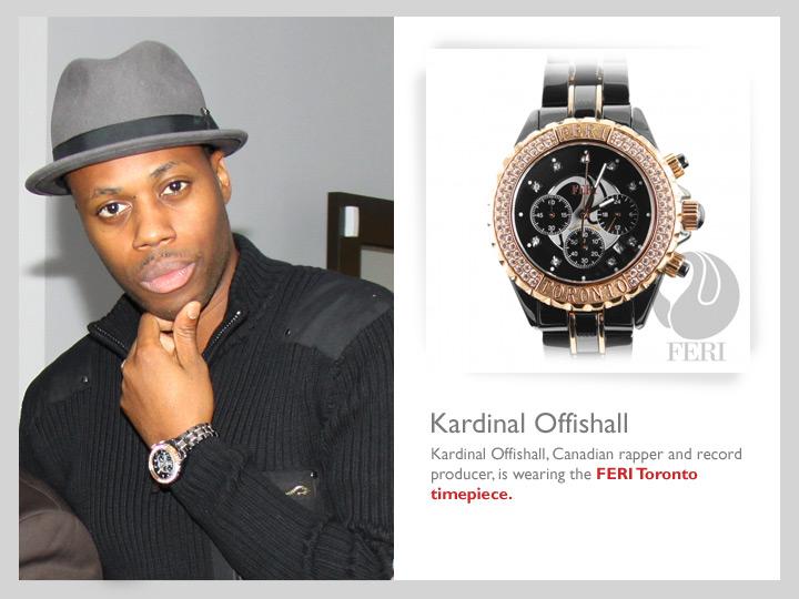 Kardinal sporting his FERI Toronto Timepiece