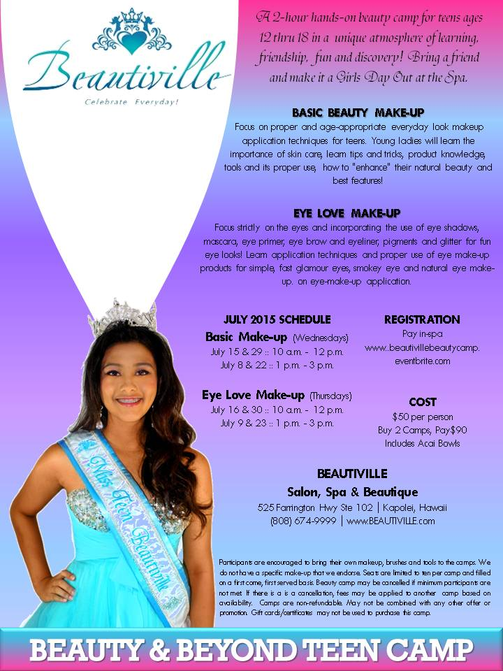 Beautiville Beauty & Beyond Teen Camp