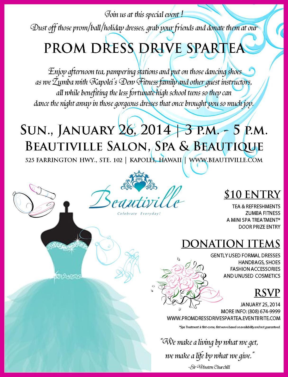 Beautiville Prom Dress Drive Spartea - January 2014
