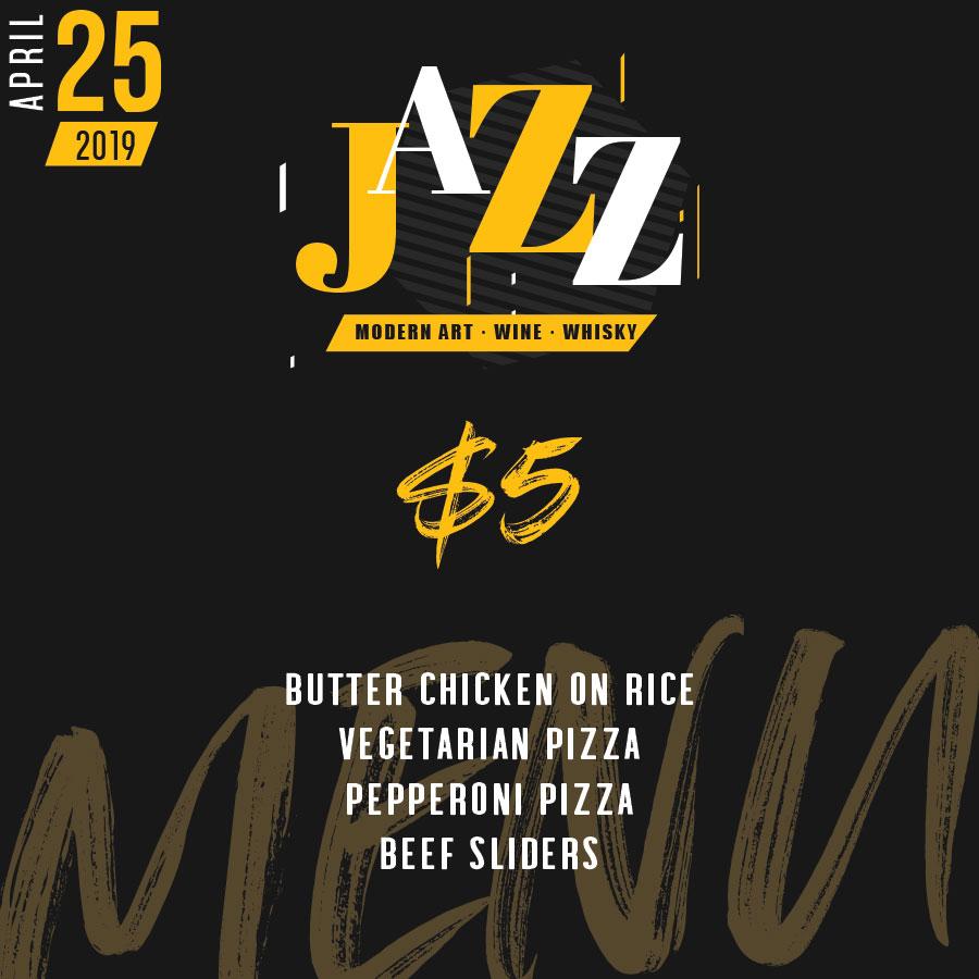 Jazz Social Networking Event Toronto Menu