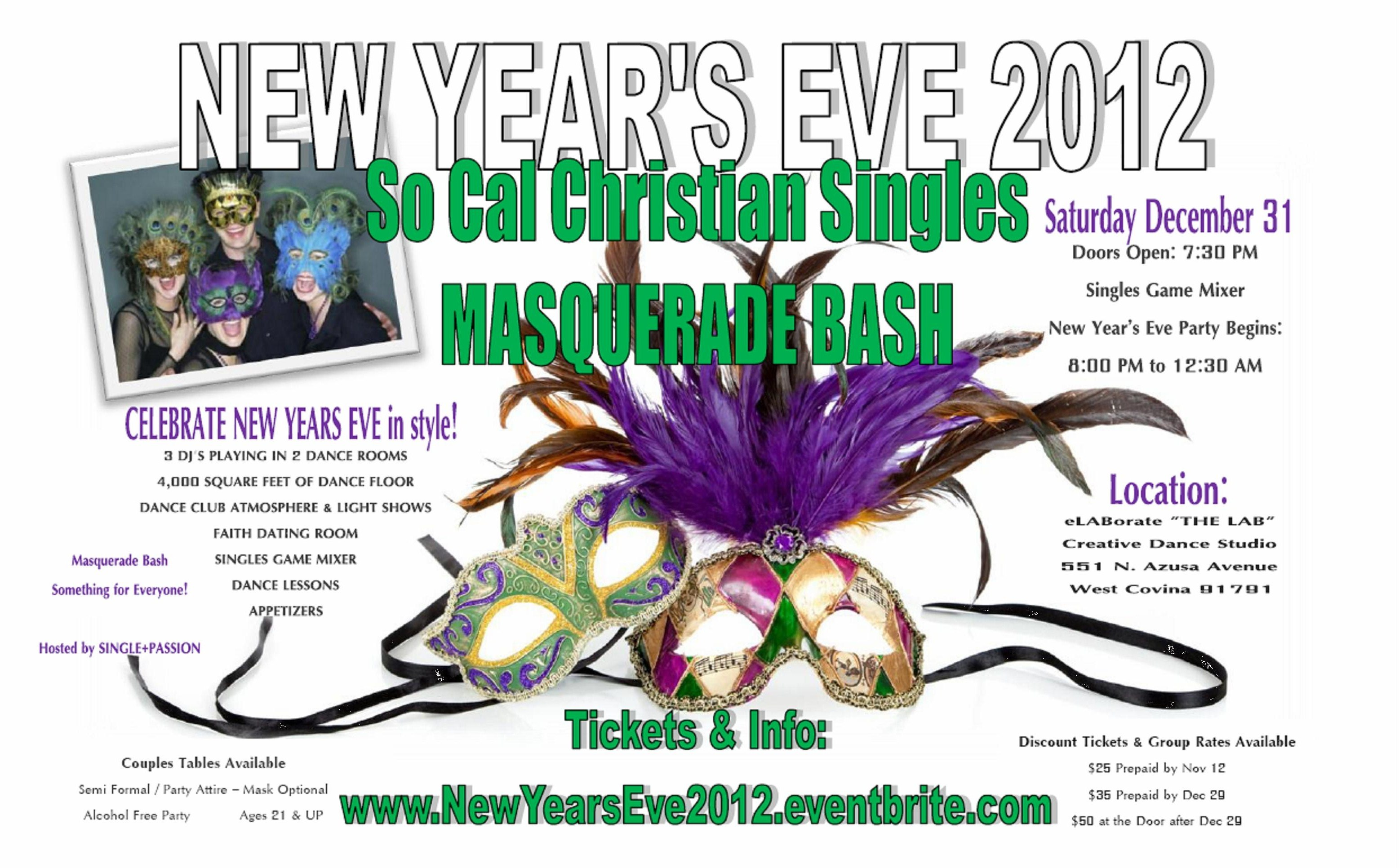 New Year's Eve Masquerade Bash