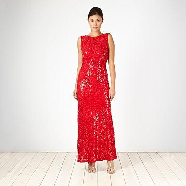 Debenhams red sequinned dress
