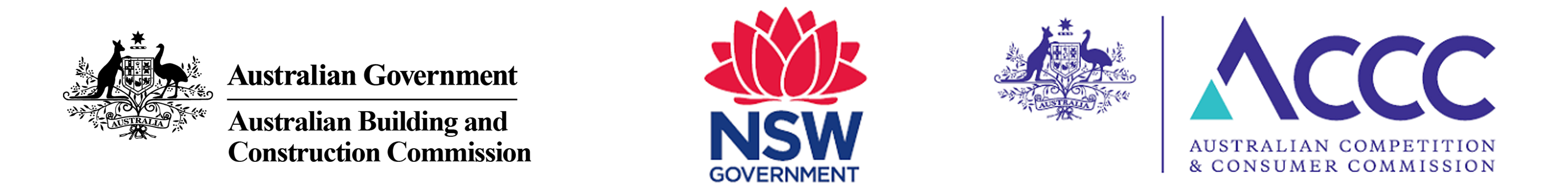 ABCC, NSW Government, ACCC