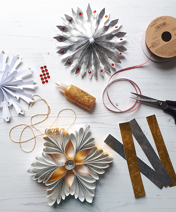 Snowflake paper decoration
