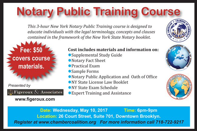 Notary Public Training Course - May 10, 2017