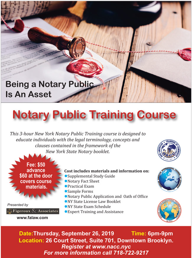 Notary Public Training Course - Sept 26, 2019