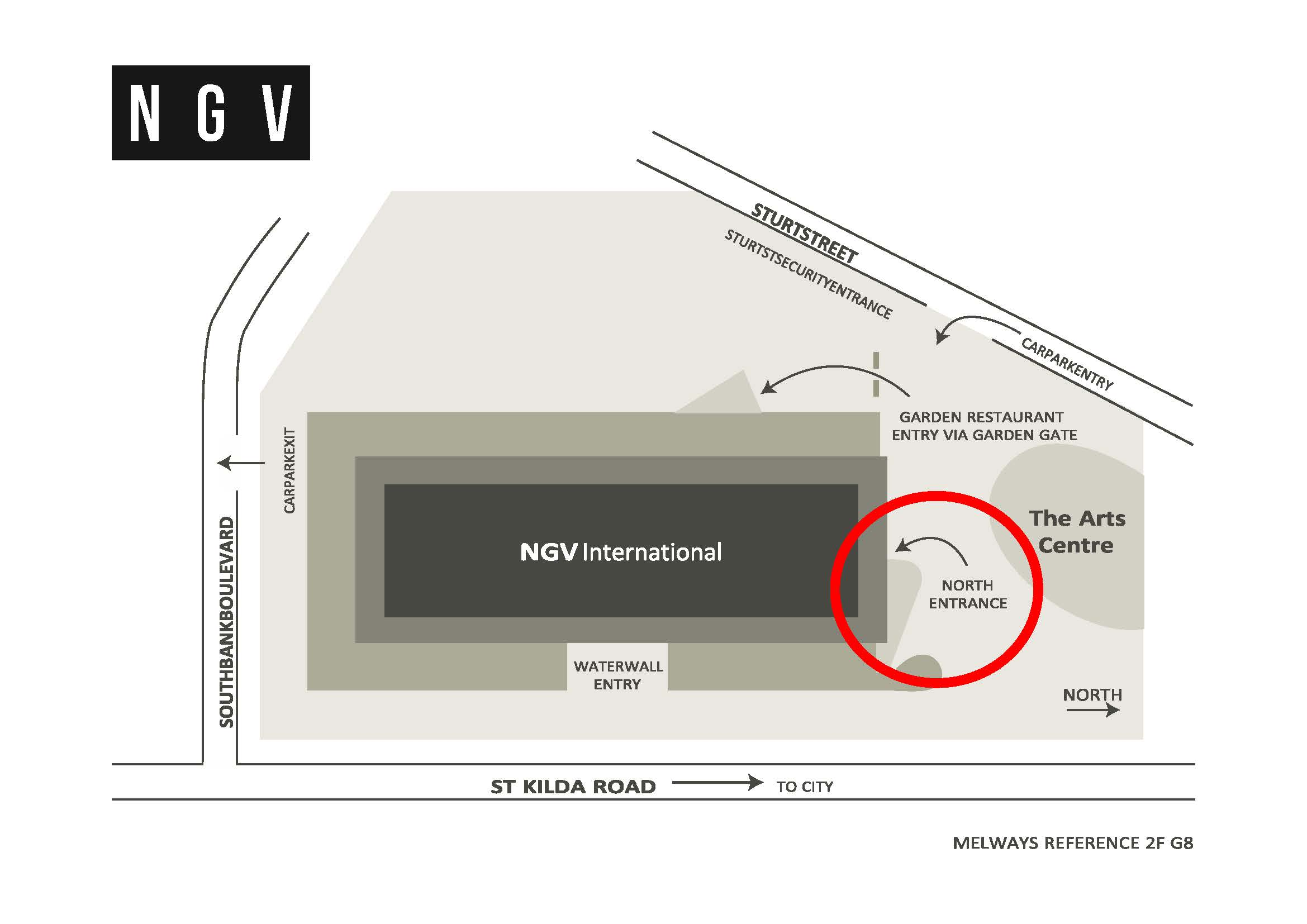 NVG International Map - North Foyer Entry