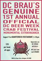 DC BRAU's Genuine 1st Annual Official DC Beer Week Crab...